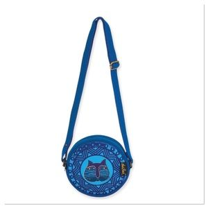 Blue Cat Round Crossbody Bag